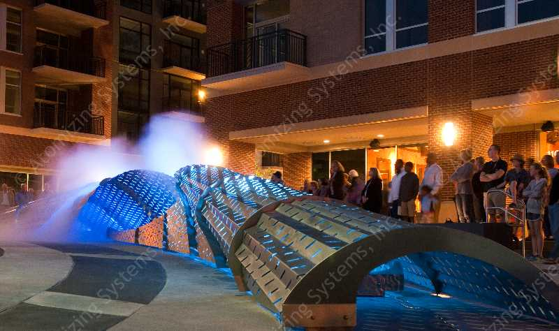 Exhale Sculpture, Chapel Hill, NC. Artist: Mikyoung Kim. Developer: Ram Development Co.