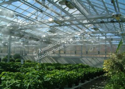 Greenhouse dark corner fogging